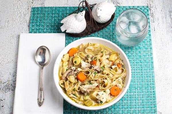 Low FODMAP Instant Pot Chicken Noodle Soup