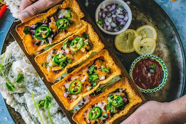 Instant Pot Black Beans Taco Boats