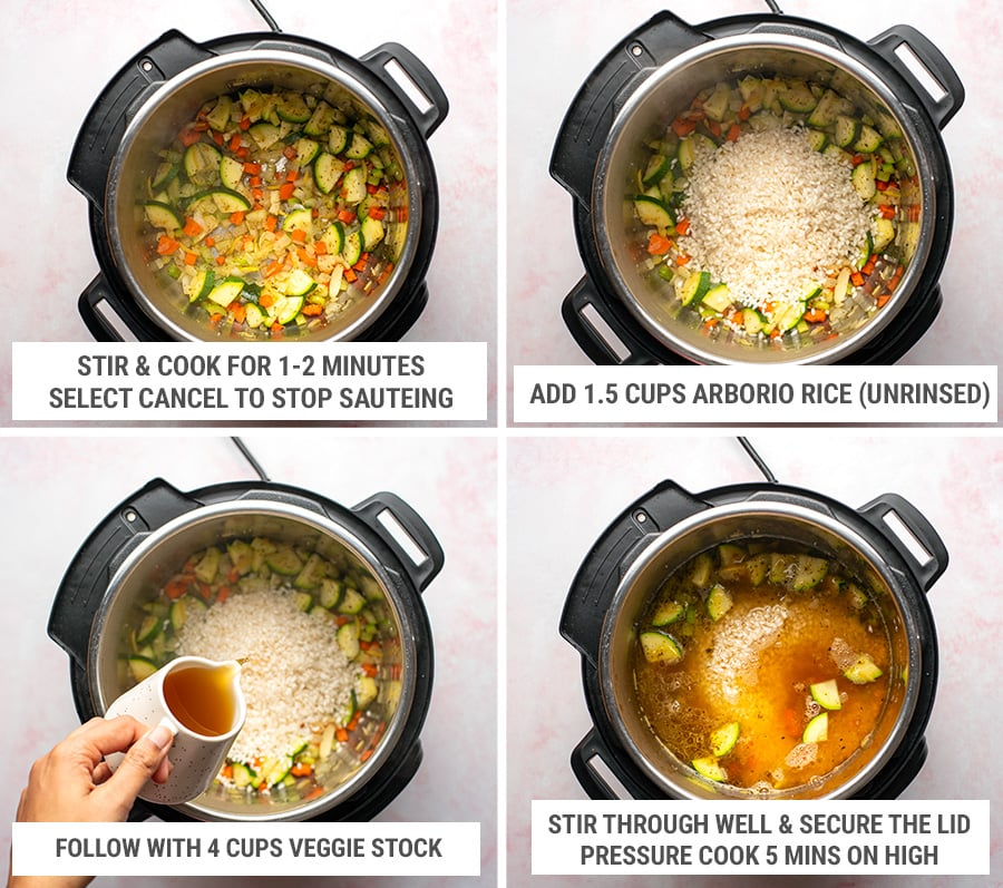 How to cook Instant Pot vegetable risotto steps 2