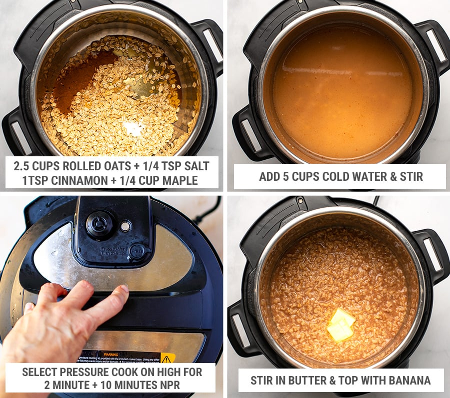 How to make instant pot oats