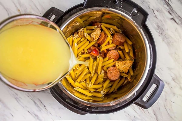 Cajun chicken pasta forInstant potMini 3 qt