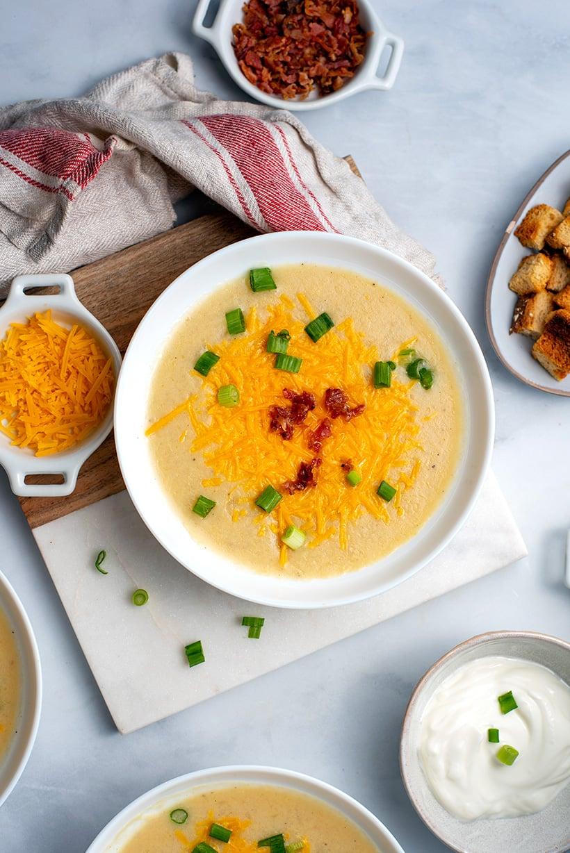 Instant Pot Loaded Potato Soup Recipe
