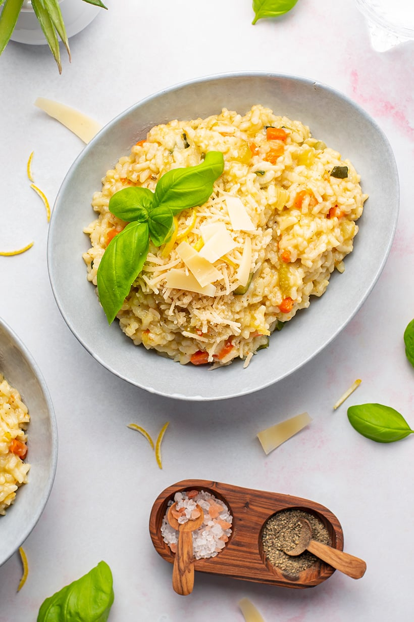 Instant Pot Risotto With Vegetables & Parmesan