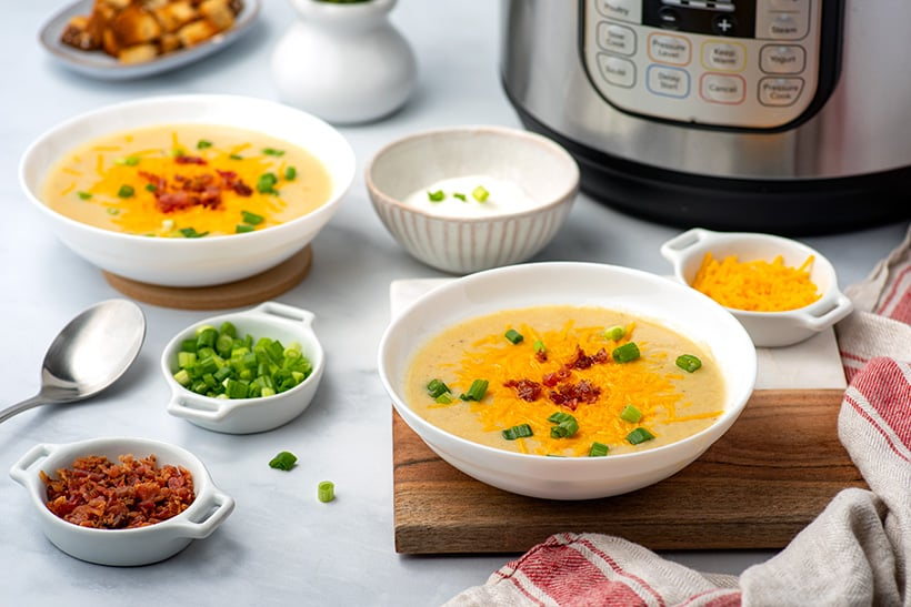 Loaded Potato Soup In The Instant Pot