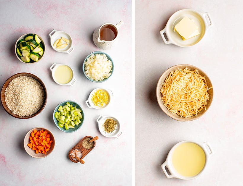 Risotto ingredients for Instant Pot recipe