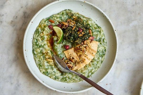 Green Rice Porridge (Instant Pot, Vegan)