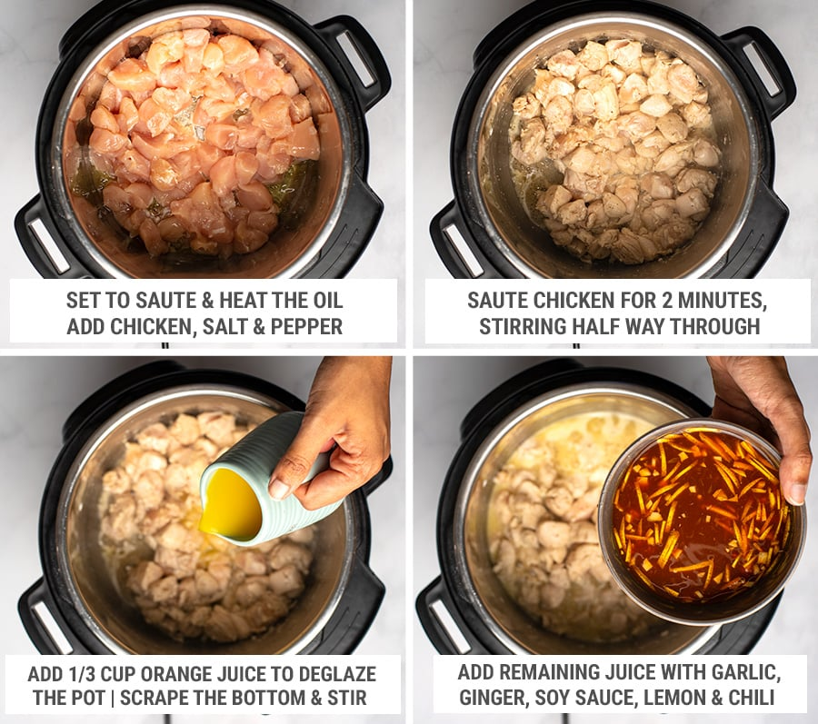 How to make Instant Pot orange chicken steps 1