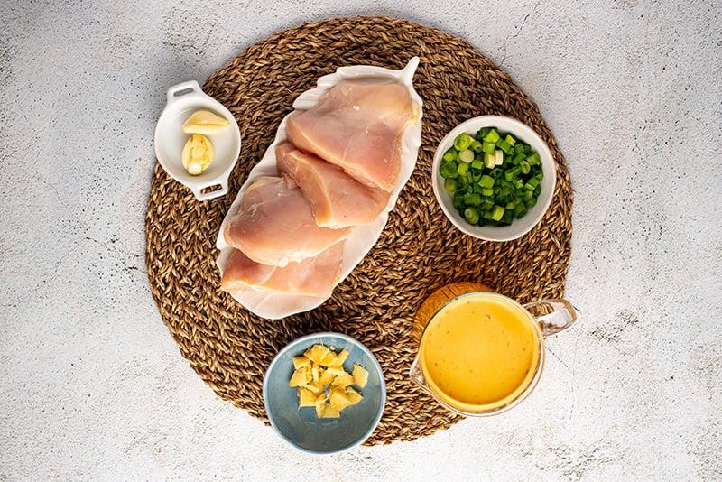 Instant Pot chicken ramen ingredients