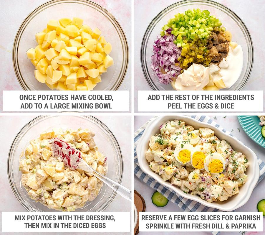 How to make potato egg salad with Instant Pot steps 2