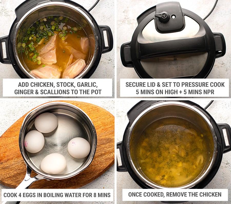 How to make Instant Pot ramen noodles Step 1