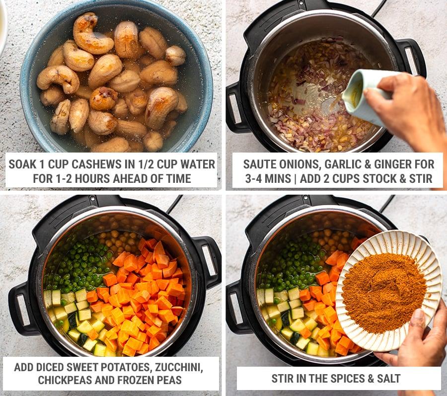 How to make vegan tikka masala in the Instant Pot steps 1