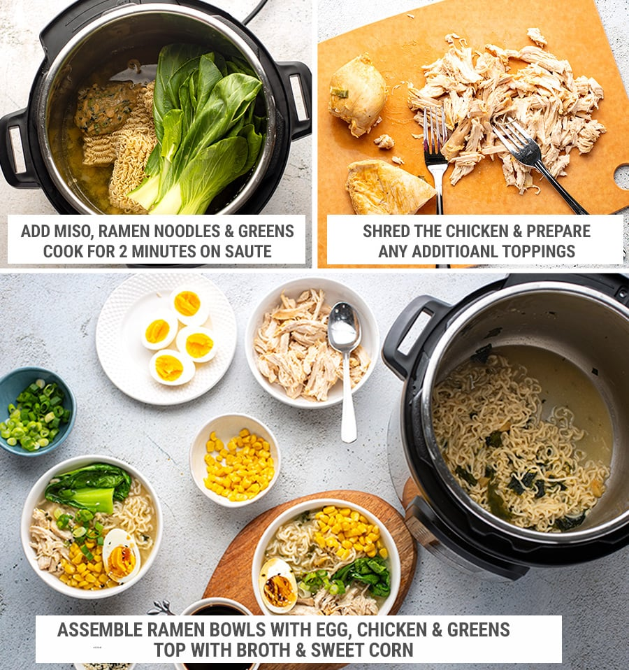 How to make ramen noodles soup in the Instant Pot steps 2