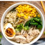 Instant Pot Chicken Ramen Noodles With Miso & Corn
