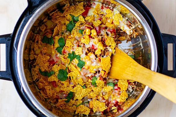 INSTANT POT MEXICAN BEEF RICE CASSEROLE