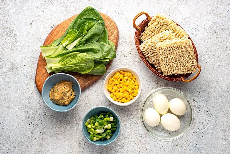 Instant Pot ramen noodle ingredients for part 2 of cooking