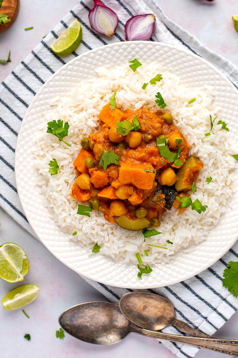 Vegan Tikka Masala With Chickpeas & Sweet Potatoes (Instant Pot Recipe)