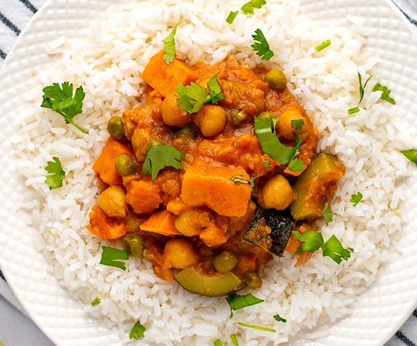 Instant Pot Tikka Masala With Chickpeas & Sweet Potatoes