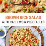 Brown Rice & Cashew Salad (Instant Pot or Stovetop)