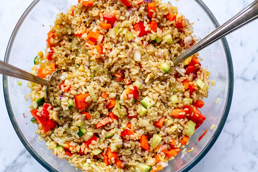 Vegetarian Brown Rice Salad Recipe