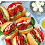 Caprese Meatball Sandwich (Instant Pot Recipe)