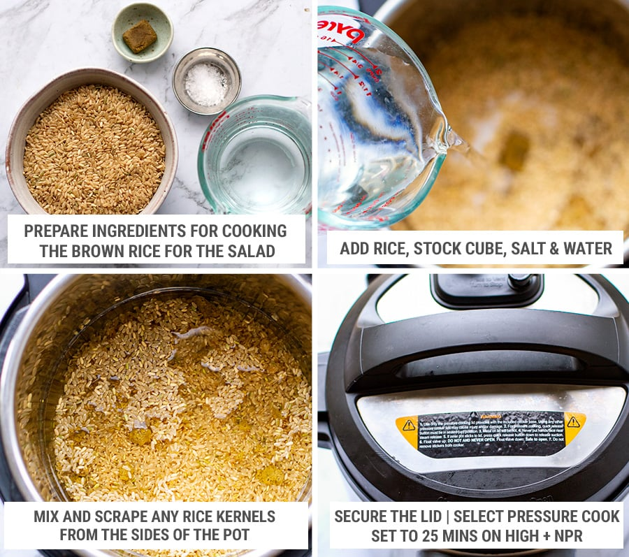 How to cook brown rice in the Instant Pot for the salad