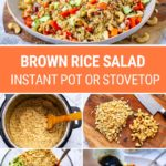 Brown Rice Salad (Instant Pot or Stovetop)