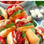Instant Pot Italian Meatball Caprese Sandwich