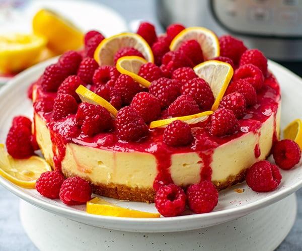 Instant Pot Raspberry Lemonade Cheesecake