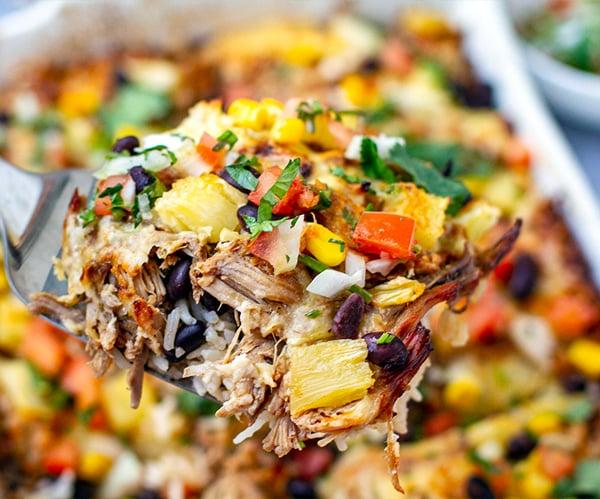 Instant Pot Pork Al Pastor Rice Casserole