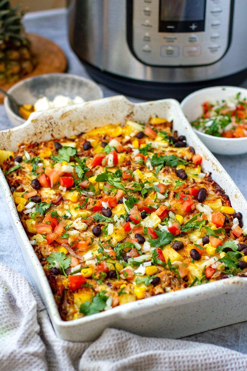 Instant Pot Pork & Rice Casserole (Al Pastor Inspired)