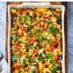 Pork Al Pastor Rice & Bean Casserole (Instant Pot Recipe)