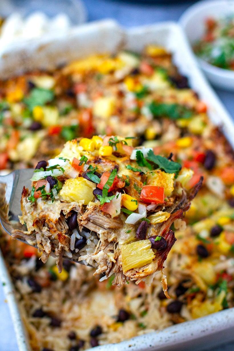 Instant Pot Pork Al Pastor & Rice Casserole