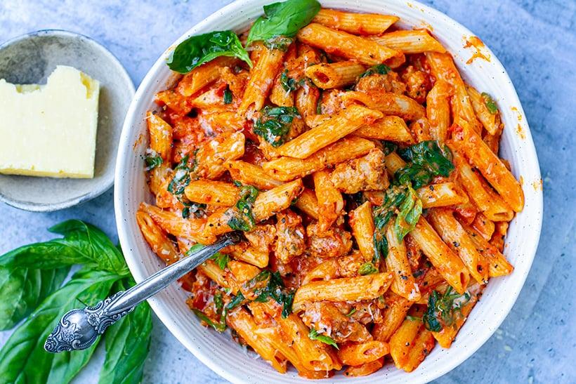 creamy sausage pasta instant pot recipe