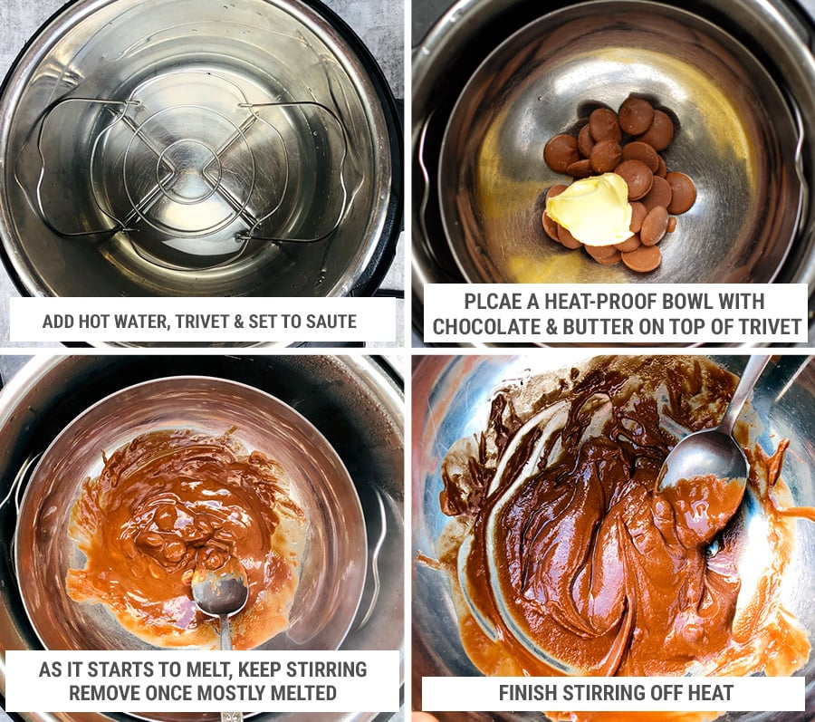Chocolate ganache glazing in the Instant Pot