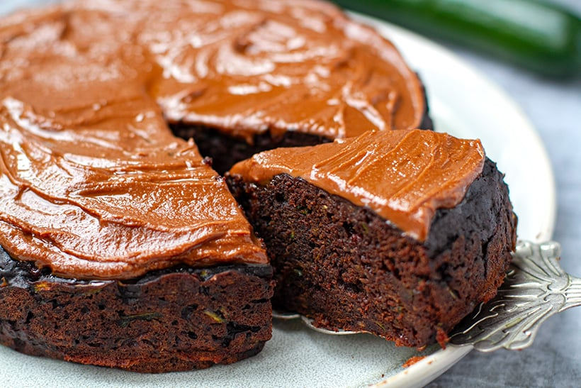 Pressure Cooker Chocolate Zucchini Cake