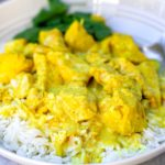 Instant Pot coconut chicken curry with 5 ingredients