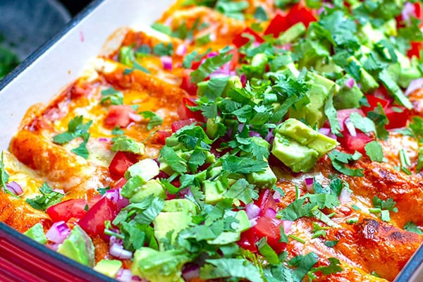 Instant Pot Chicken Enchiladas In Chipotle Sauce
