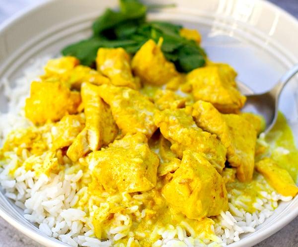 Instant Pot coconut chicken curry easy recipe