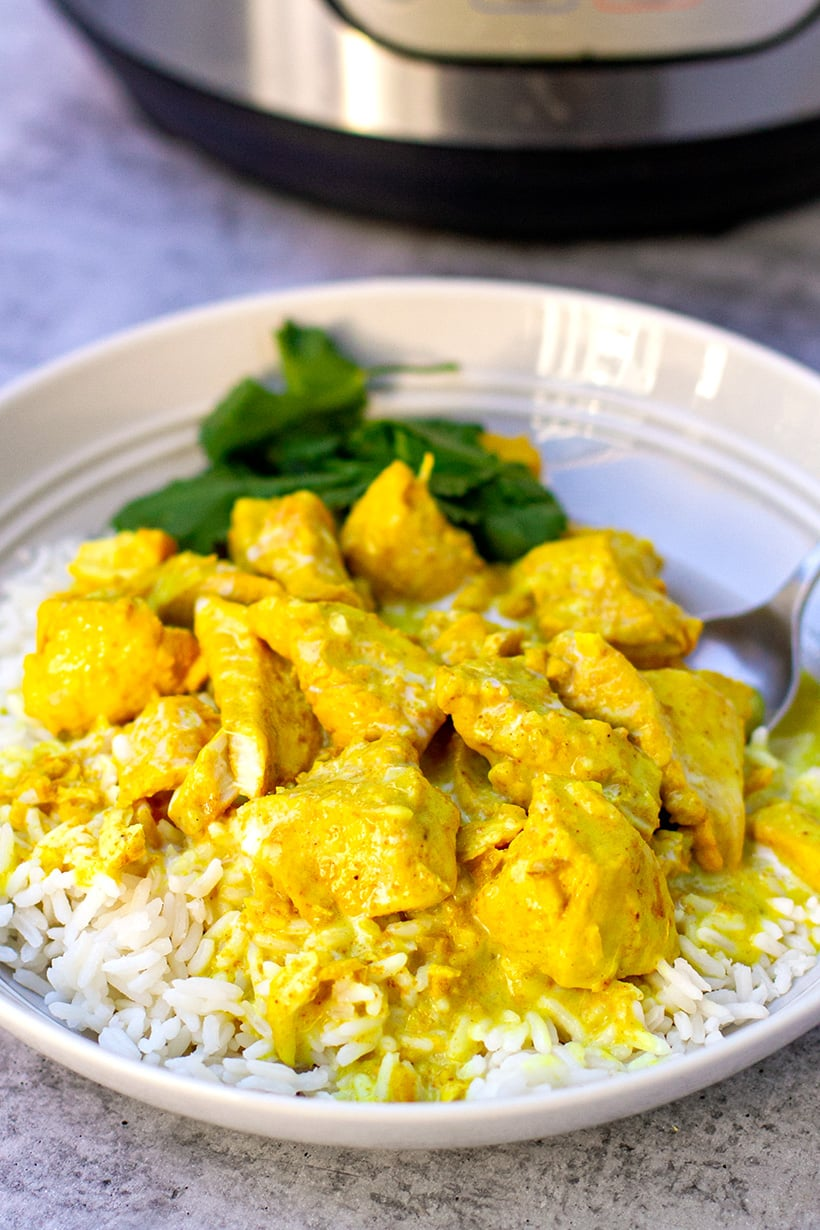 Coconut Chicken Curry (Instant Pot Recipe, 5 Ingredients Only)