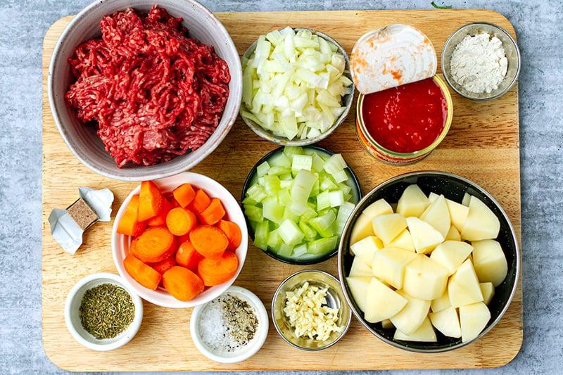 Ground Beef Stew Ingredients