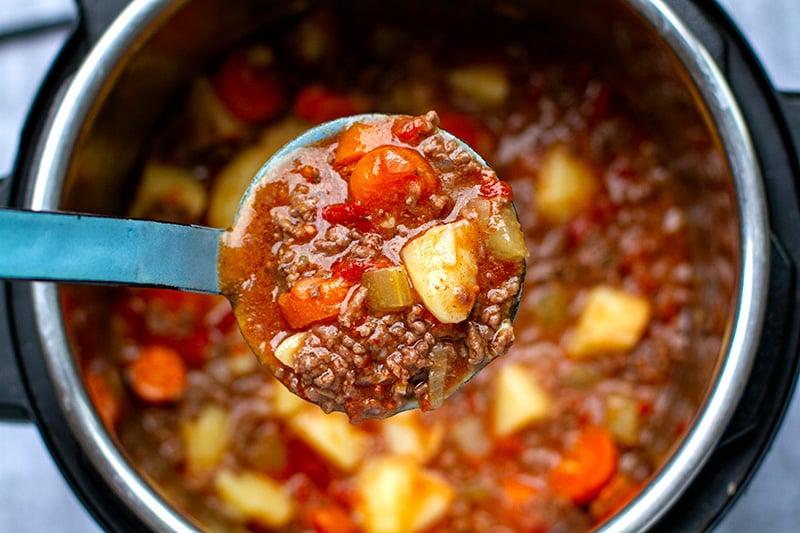 Ground Beef Stew Instant Pot Recipe