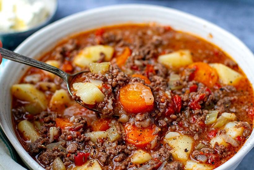 Ground Beef Stew In Instant Pot -Recipe