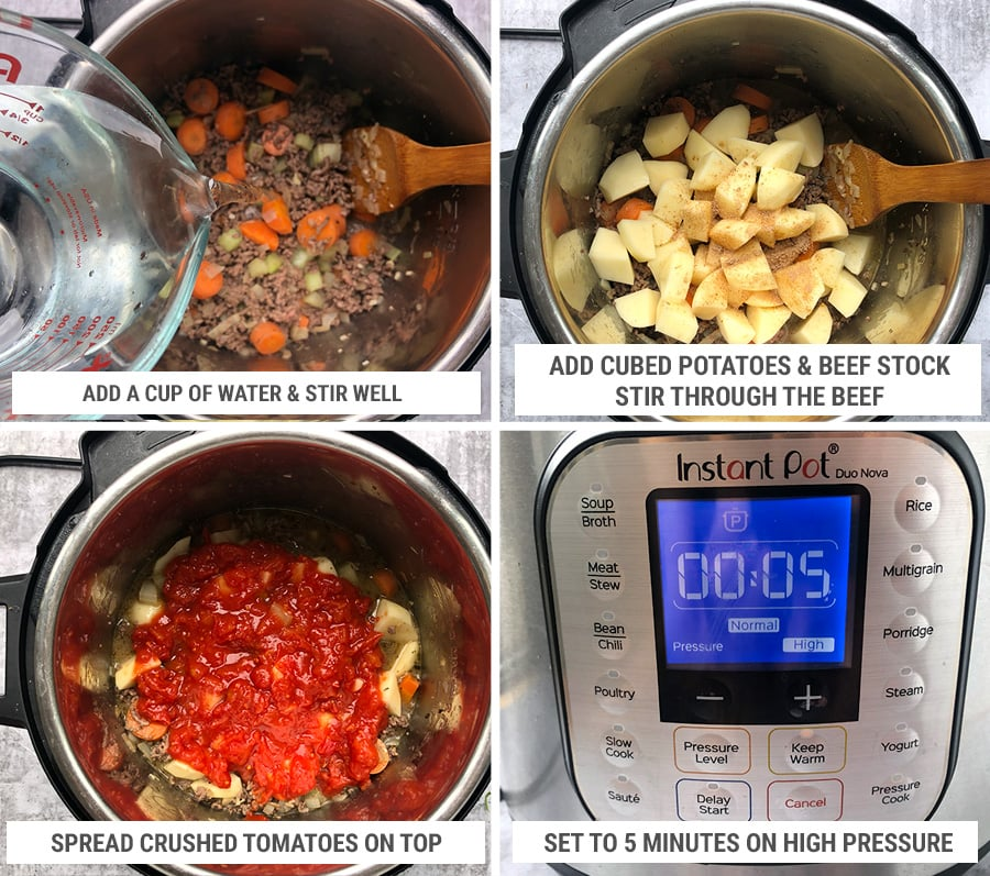 How to cook ground beef stew in Instant Pot