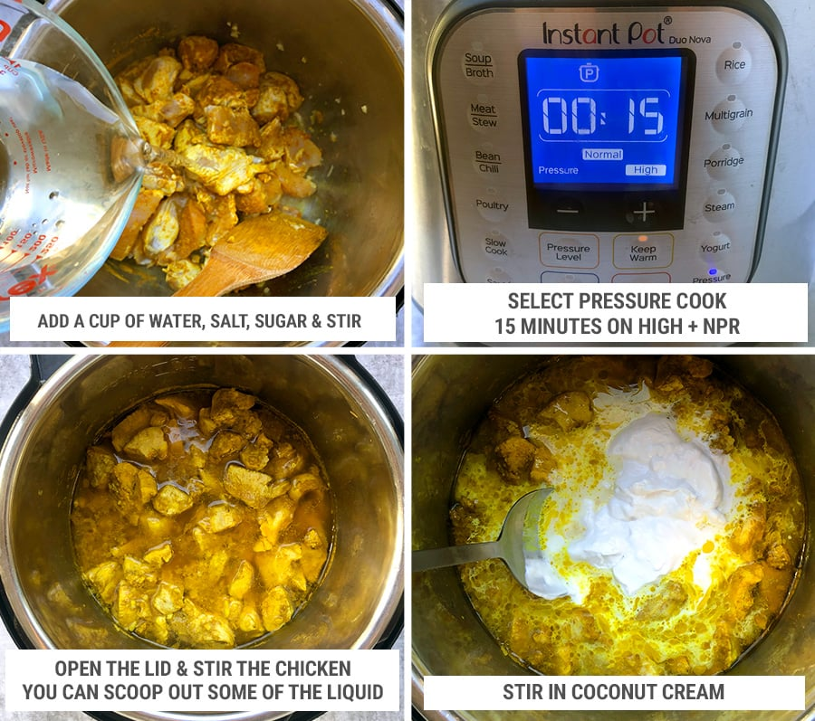 How to cook Instant Pot chicken curry steps 2