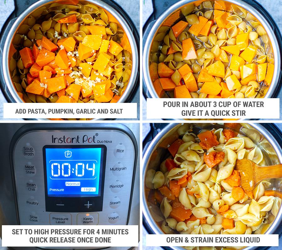 How to make Instant Pot pumpkin pasta bake