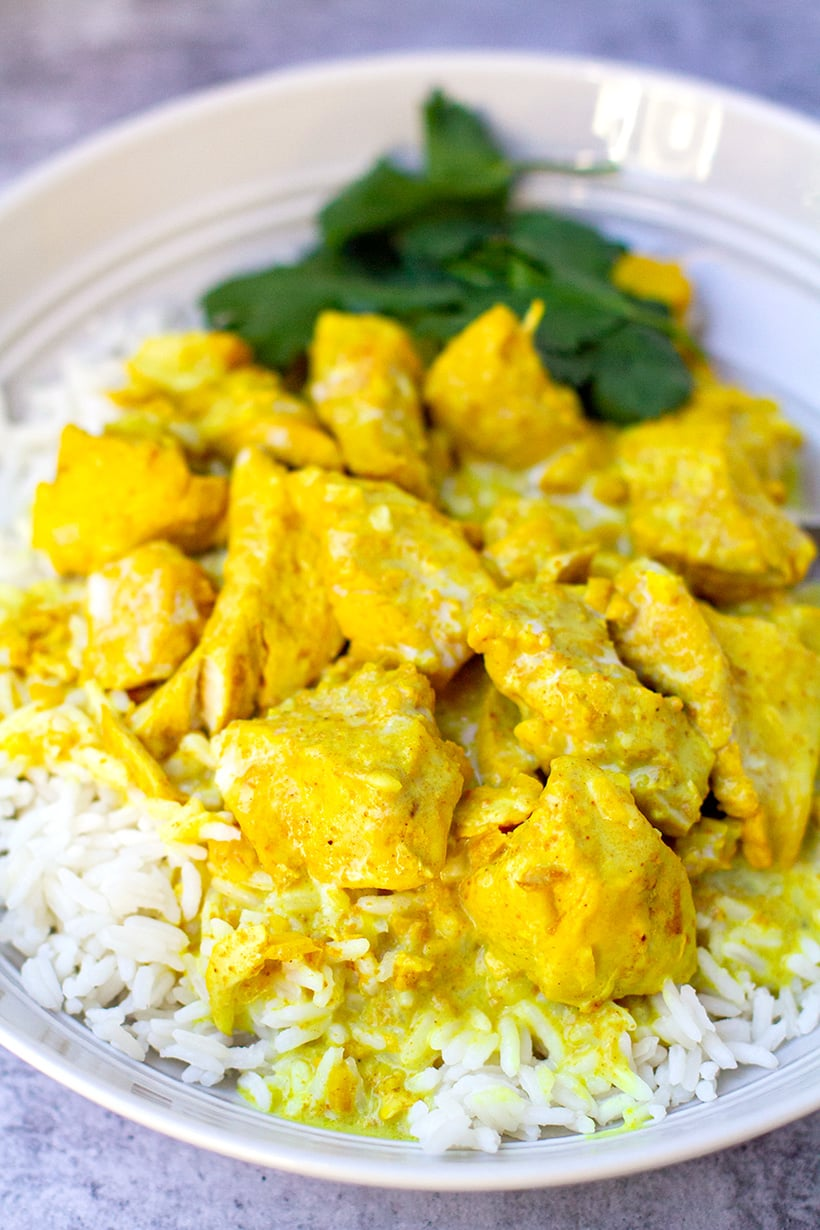 Easy chicken curry with coconut cream in the Instant Pot