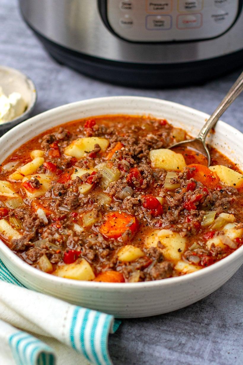 Instant Pot Ground Beef Stew Recipe