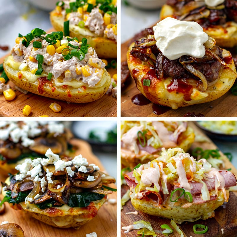 Instant Pot Baked Potatoes With Four Different Fillings