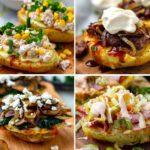 Instant Pot Stuffed Baked Potatoes 4 Ways