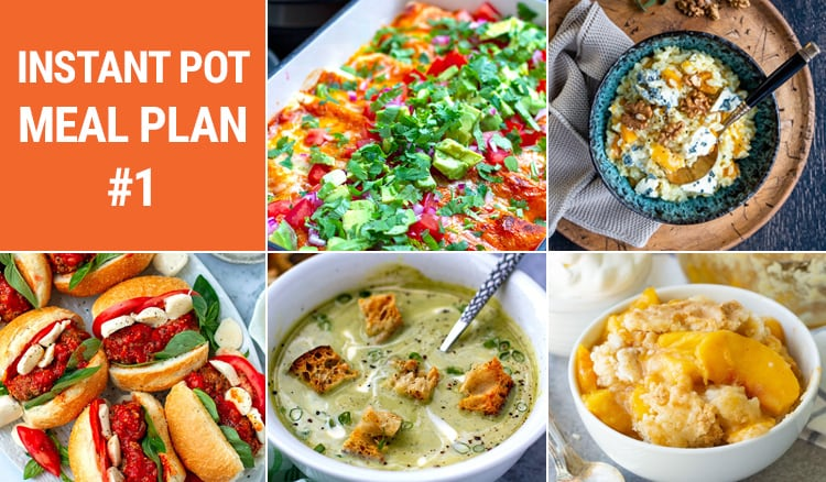 Weekly Instant Pot Meal Plan #1